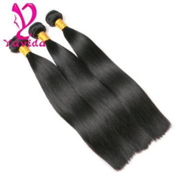 7A Brazilian Virgin Hair Silky Straight Hair Weave 3 Bundles 14+16+18 inch 300g