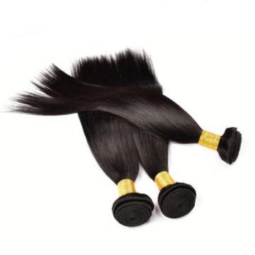 3 Bundles 300g Unprocessed Brazilian Virgin Hair Straight Human Hair Extensions
