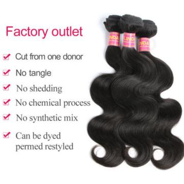 "3 bundles 14+16+16"" /150g body wave brazilian human virgin hair extension deal"
