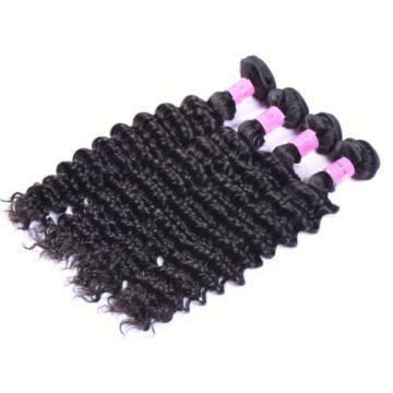100% Virgin Brazilian Deep Wave Human Hair Extensions Wavy100g/bundles Weft