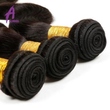 Brazilian Hair Virgin Human Hair Extensions Weave Body Wave 3Bundles 300g 7a