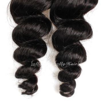300G/3 Bundles Brazilian Human Hair Weave Weft Virgin Loose Wave Hair Product