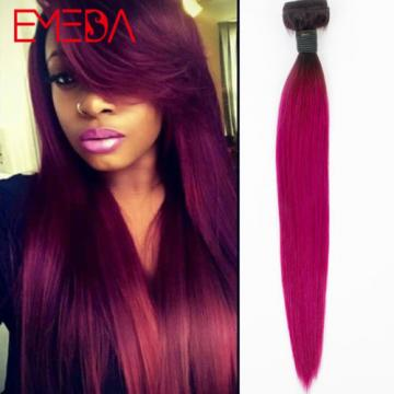 Colorful Ombre Virgin Remy Hair Bundles Brazilian Straight Two Tone Hair Weaves