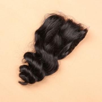 Brazilian Unprocessed Human Baby Virgin Hair 4*4 Loose Wave Silk Base Closure