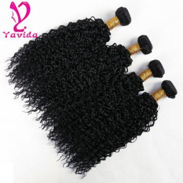 7A Brazilian Kinky Curly Virgin Hair Human Hair Weft Extensions 400g/4 Bundles