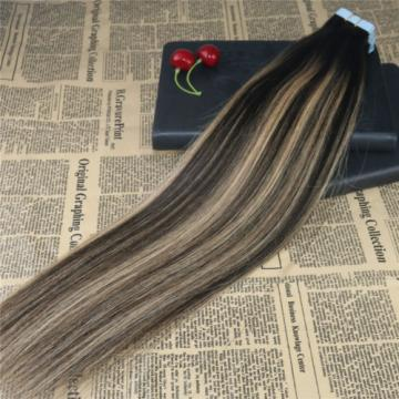10A Remy tape in human hair extension omber Balayage Brazilian Virgin Human Hair