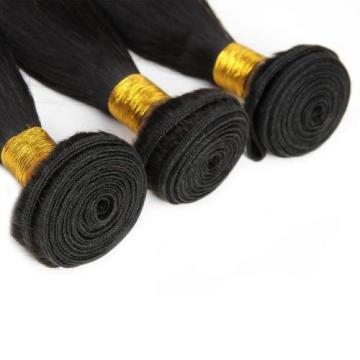 Brazilian 7A Straight Unprocessed Virgin Human Hair Extension Weave 3Bundle/150g