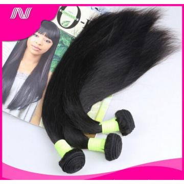 100% 6A Unprocessed Virgin Brazilian Straight Hair Natural Black bundles 100g