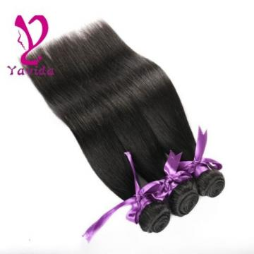 7A Unprocessed Brazilian Virgin Human Hair Extensions Straight Weave 3 Bundles