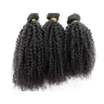 Brazilian Human Hair Kinky Curly Extensions Natural Black Weft Virgin Hair Weave