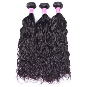 New Wavy Virgin Brazilian 100% Human Hair Extension Water Weave 3 Bundles