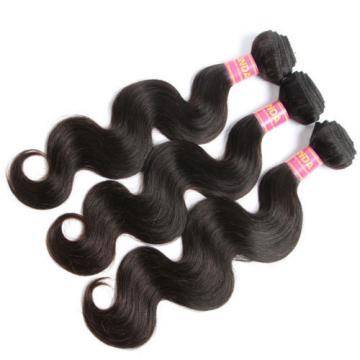 "3 bundles 12+12+14""/150g Body Wave Brazilian Human Virgin Hair Weave Extension"