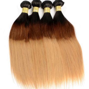 Ombre 100% Unprocessed Brazilian Virgin Straight Hair Extension 300g/3 Bundles