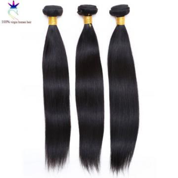 "Virgin Brazilian Hair Extension Remy Straight Silky 3 Bundles(8""10""12"")/300g"
