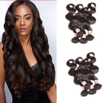 Unprocessed 7A Brazilian Body Wave Virgin Human Hair Extensions 200g/4 Bundles