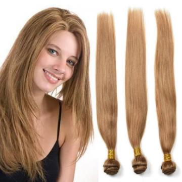 4bundles 50g Remy Human Hair Straight Honey Blonde Color 27 Brazilian hair Weave