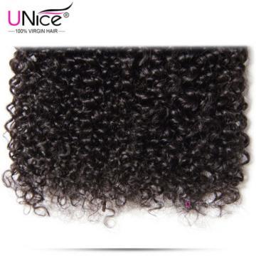 Brazilian Curly Virgin Hair Weave 4 Bundles UNice Wet Wavy Human Hair Extensions