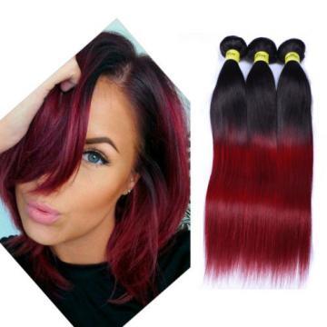 Brazilian virgin hair bundles 1B-Bug color red human hair weave 4bundles/200g