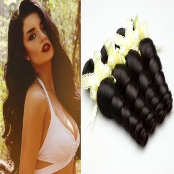 100% Brazilian Virgin Human Remy Hair Extension 4 Bundle Weaving Weft Loose Wave
