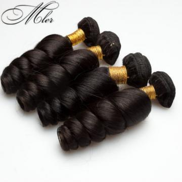 100% Brazilian Virgin Human Remy Hair Extension 4 Bundle Weaving Weft Loose Wave