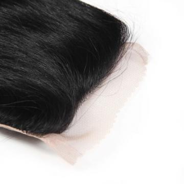 Grade 7A Body Wave Human Hair Brazilian Black1B Virgin Hair Lace Frontal Closure