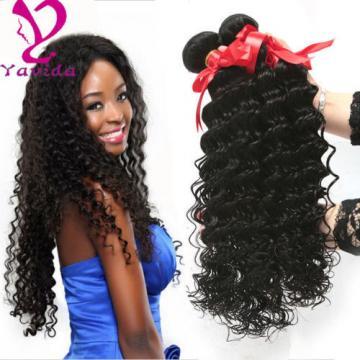 THICK Deep Wave Human Hair Extensions Weft Brazilian Virgin Hair 300g/3 Bundles