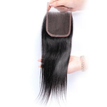 Brazilian Straight Closure20inch,130% Density,Hand Tied Lace Closure Virgin Hair