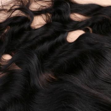 7A Brazilian Human Virgin Hair Body Wave 13*4 Ear to Ear Lace Frontal Closure 1B