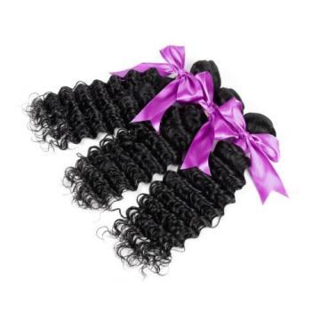 Brazilian Unprocessed Virgin Hair Deep Wave 4pcs 100% Human Hair Bundles 200g