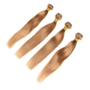 1/2/3 Bundle Brazilian Remy Virgin Hair Color 27# Straight Human Hair Weft Weave
