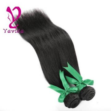 THICK 8A Brazilian Straight Silky Virgin Human Hair Extensions 2 Bundles 200g