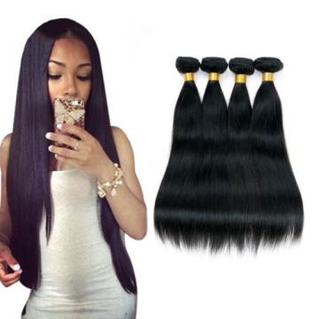 Brazilian Virgin Remy Human Hair Extensions Weave Straight 4 Bundle Weaving 200G