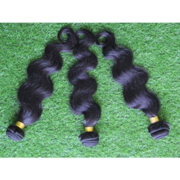 "100% 6A 1Bundle 100g Virgin Brazilian Body Wave 10-30"" Natural Black Human Hair"