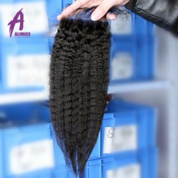 3 Bundles 100% Virgin Brazilian Unprocessed Human Hair Extensions with Closure