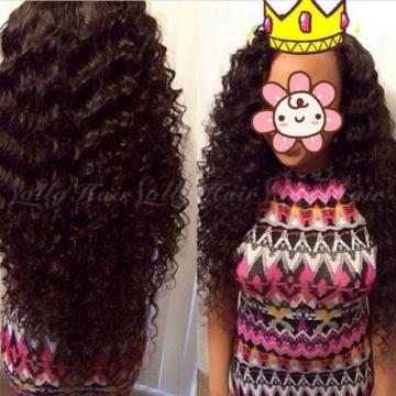 7A 3Bundles Unprocessed Virgin Brazilian Deep Wave Curly Human Hair Weft 300g