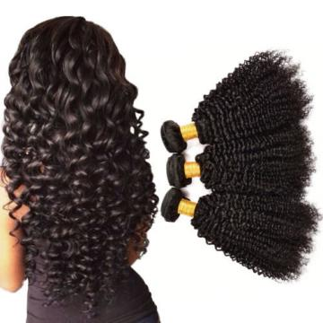 3 Bundles 300g Curly Weave Brazilian Virgin Hair Jerry Curl Human Hair Extension