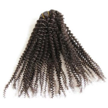 100% 7A Virgin Brazilian Human Hair Kinky Curl Clip in Hair Extension 7pcs 120g