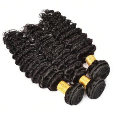 3 Bundles 300g Deep Wave Human Hair Extension Brazilian Virgin Hair 8 to 24 Inch