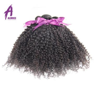 Kinky Curly 3 Bundles Brazilian Virgin Human Hair Extensions Weave Weft 300g 8A