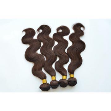 "100% 6A 1Bundle 100g Virgin Brazilian Body Wave 10-30"" Natural Brown Human Hair"