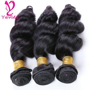 7A 100% Brazilian Virgin Loose Wave Hair Human Hair Weft Extensions 3 Bundles