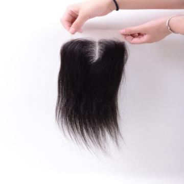 4 x4 Lace Closure 6A Unprocessed Brazilian Virgin straight Human Hair Extensions