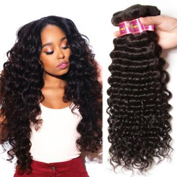 1 Bundles 50g Unprocessed Virgin Peruvian Deep wave Human Hair Extension