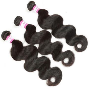 Virgin Brazilian/Peruvian/Indian Human Hair Extensions 3 Bundles/300g Body Wave