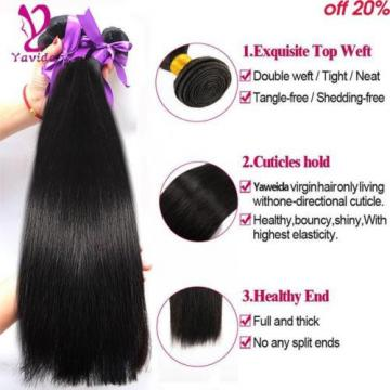 Grade 8 A Pervuvian Straight Virgin Hair Peruvian Hair 3 Bundles Straight 300G