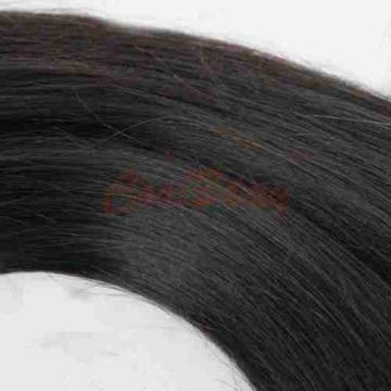 3 Bundles Straight Hair Weft with Lace Closure Virgin Peruvian Human Hair Weave