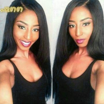 1Bundle 100%Virgin Unprocessed Straight Peruvian Hair Extension Real Human Weave