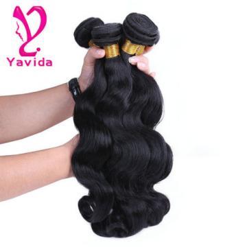 Peruvian Virgin Body Wave Weave Weft 100% Human Hair Wavy 3 Bundles/300g