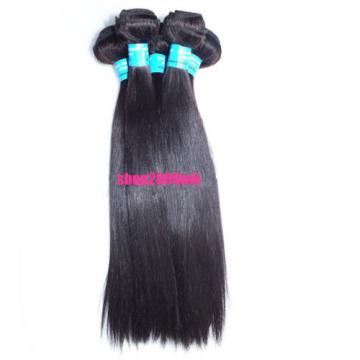 300G/3 Bundles Peruvian Human Hair Extension Virgin Straight  Hair
