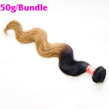 4 Bundles/200g Peruvian Virgin Body Wave Ombre Human Hair Extensions Weave Weft